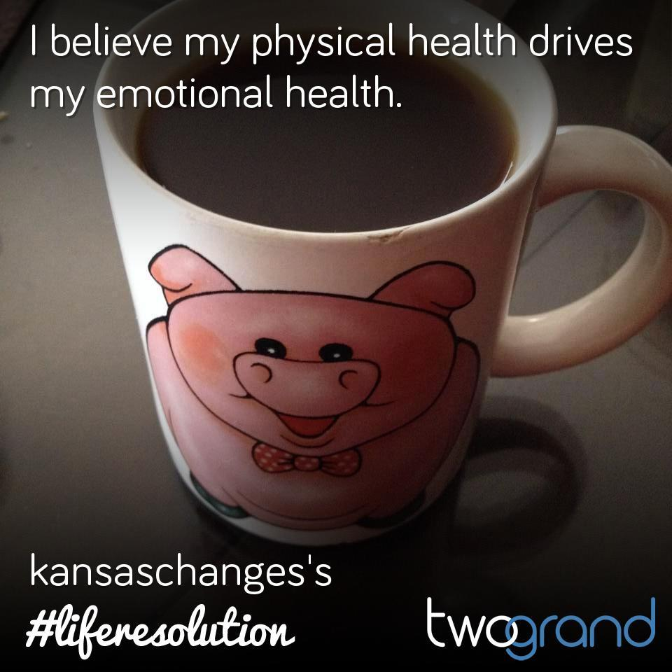 I believe my physical health drives my emotional health.