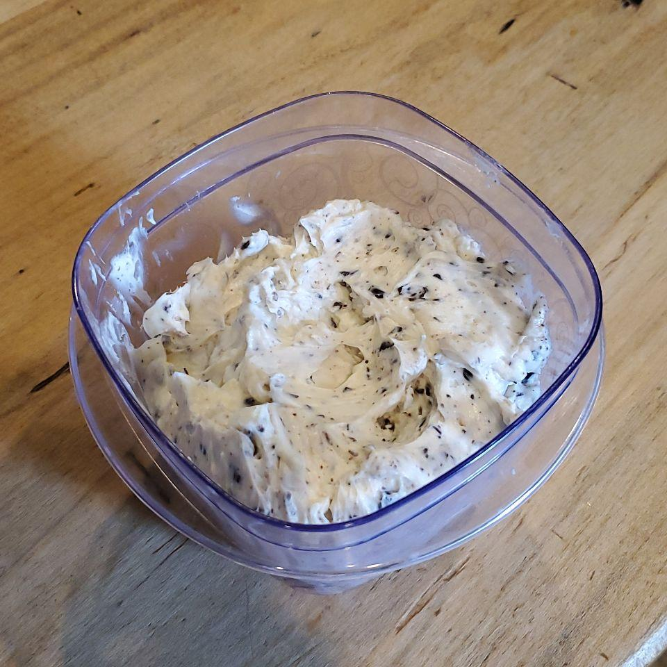 Cream cheese cookie dough w sf choc chips Prepped for my sweet tooth craving now & later! Ate about 2 Tblsp