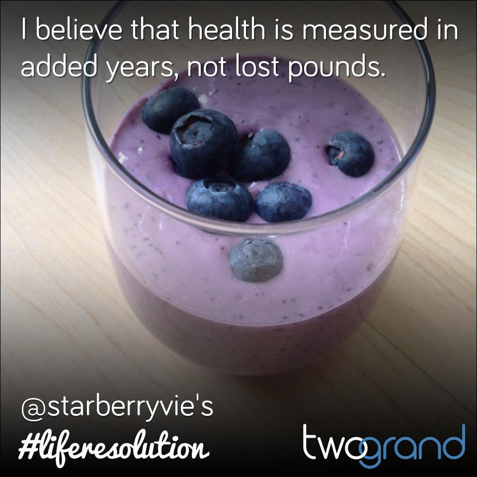 I believe that health is measured in added years, not lost pounds.